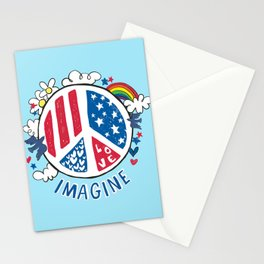 Imagine Love Imagine Peace Stationery Cards