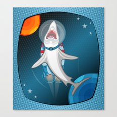 shark in space Canvas Print