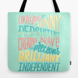 Kind words only Tote Bag