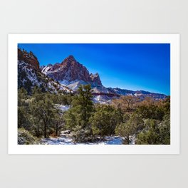 The_Watchman - Winter in Zion_National_Park, UT Art Print