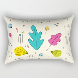 leaves and colors in the forest Rectangular Pillow