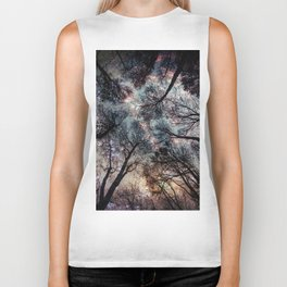 Starry Sky in the Forest Biker Tank