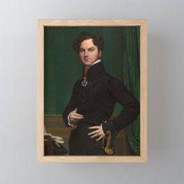 Jean-Auguste-Dominique Ingres - Amédée-David, the Comte de Pastoret Framed Mini Art Print