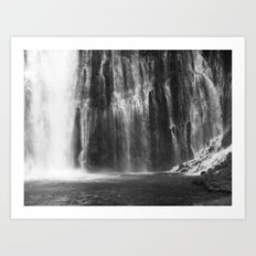 Places in Black & White: Burney Falls 13 Art Print
