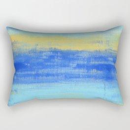 Relaxing Beach Aqua Turquiose Nautical Abstract Art Rectangular Pillow