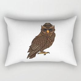 Cool Owl With A Hat | Night Active In The Clubs. Rectangular Pillow
