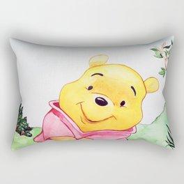 Winnie the Pooh, watercolor Rectangular Pillow