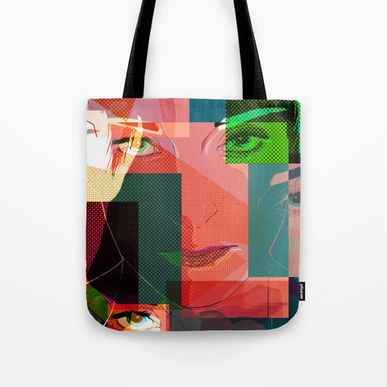 Eyes Pop art Tote Bag