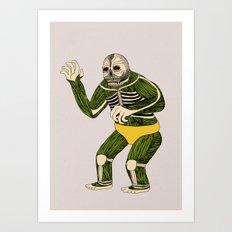 The Original Glowing Skull Art Print