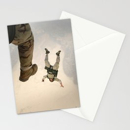 Parachuting sky 3 Stationery Cards