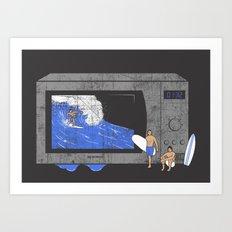 Microwave Art Print