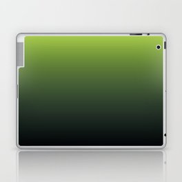 Ombre | Lime Green and Charcoal Grey Laptop & iPad Skin