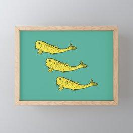 Yellow Fish Framed Mini Art Print