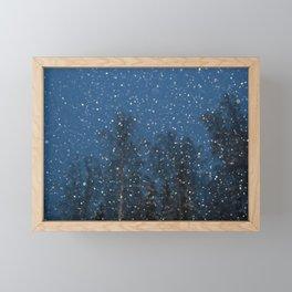 Falling Snow 3 Framed Mini Art Print