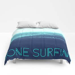 Gone Surfing Comforters