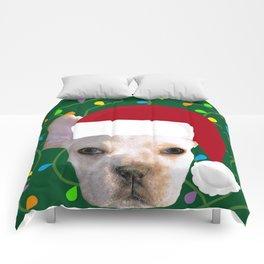 French Bulldog Santa Comforters