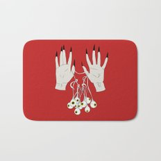 Creepy Hands Holding Eyes Bath Mat