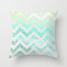 FUNKY MELON SEAFOAM Throw Pillow
