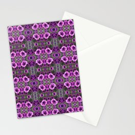 Purple Petunia Pattern 657 Stationery Cards
