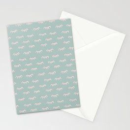 Small Mint Sleeping Eyes Of Wisdom - Pattern - Mix & Match With Simplicity Of Life Stationery Cards