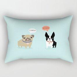 Dog Fart Rectangular Pillow