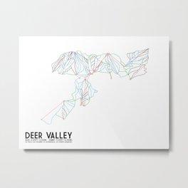 Deer Valley, UT - Minimalist Trail Art Metal Print