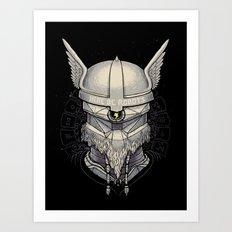 Viking robot Art Print