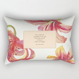 You could ask anything of me...Jace Herondale. The Mortal Instruments. Rectangular Pillow