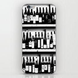Wine Bottles in Black And White #society6 #decor iPhone Skin