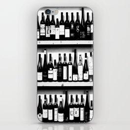 Wine Bottles in Black And White #decor #society6 #buyart iPhone Skin
