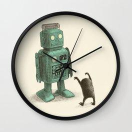 Robot Vs Alien Wall Clock
