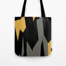 Black yellow and gray abstract Tote Bag