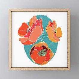 Turquoise California Poppies Framed Mini Art Print