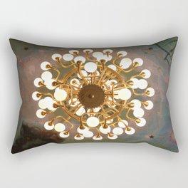 The gold chandelier Rectangular Pillow