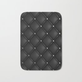 Black Quilted Leather Bath Mat