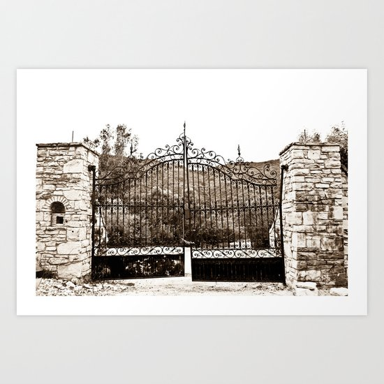 Old Gates Art Print