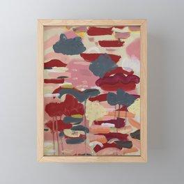 Sunsets and Flower Fields Framed Mini Art Print