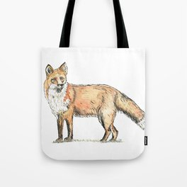 Fox watercolour and ink Tote Bag