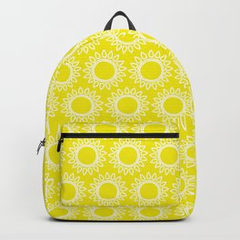 Sun Yellow Pattern - Beach Sun - Mix and Match with Simplicity of Life Backpack