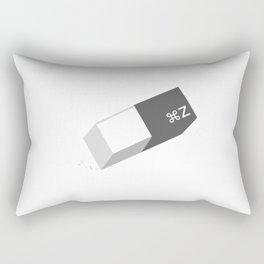 Funny Command Z Undo Eraser Rectangular Pillow