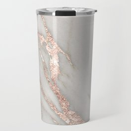 Marble Rose Gold Blush Pink Metallic by Nature Magick Travel Mug