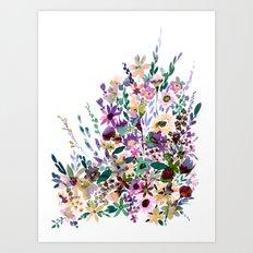 Scarlett Floral Pastel Art Print
