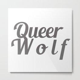 Queer Wolf Metal Print