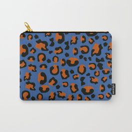 Jungle - Leopard Pattern Blue Carry-All Pouch