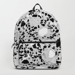 Real Terrazzo Stone Marble Concrete Mix Pattern Backpack