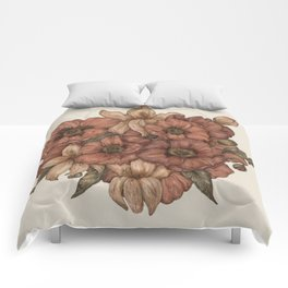Poppies and Lilies Comforters