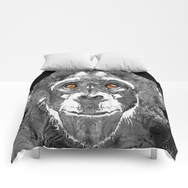 Black And White Art - Monkey Business 2 - By Sharon Cummings Comforters