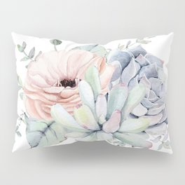 Pretty Succulents by Nature Magick Pillow Sham