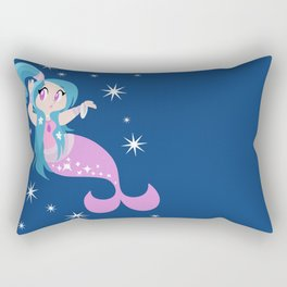 Cute Blue and Pink Mermaid Rectangular Pillow