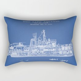The Belafonte Blue Patent Rectangular Pillow